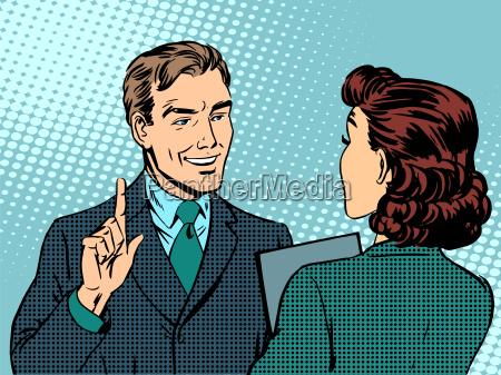 reunion de negocios entre el jefe