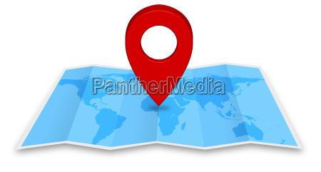 ancle el icono del mapa en
