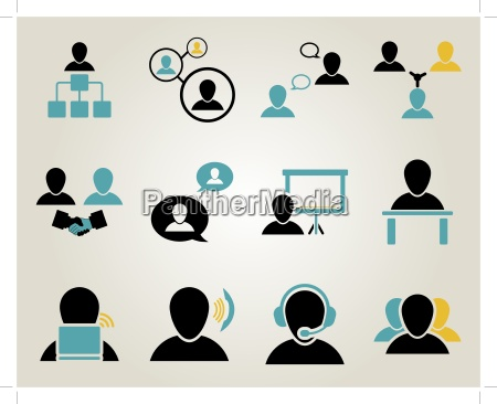 office and people icon set