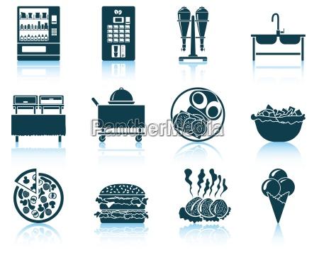 set of restaurant icon
