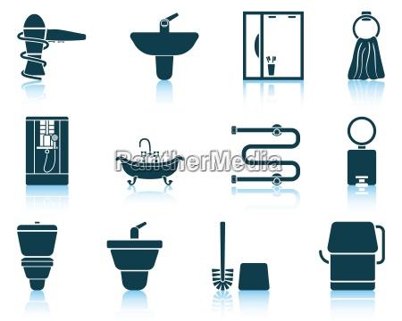 set de icono de banyo