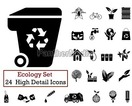 24 iconos de ecologia