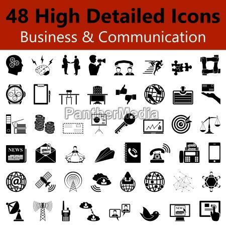 iconos de negocios y comunicacion smooth
