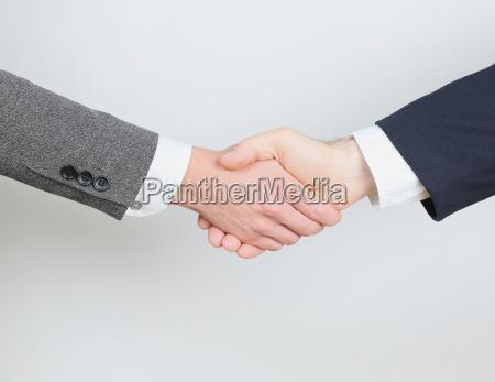 apreton de manos de negocio