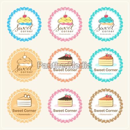 etiqueta y insignia dulces de la