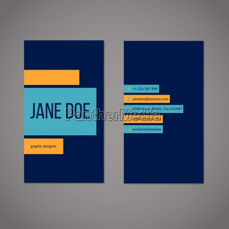 designer simplistic business card template