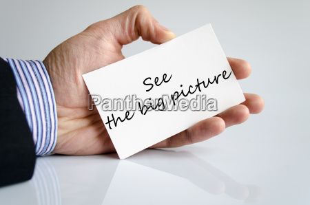 see the big picture text concept