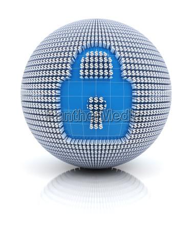 icono de seguridad en globo formado