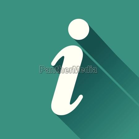 informations flat design icon