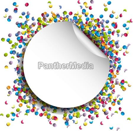 confetti cumpleanyos del fondo del vector