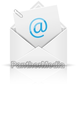 icono de correo electronico con datos