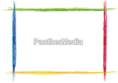 colorido marco pintado barra