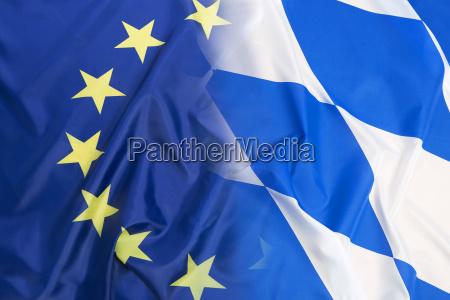 bandera de la union europea frente