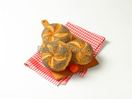 poppy seed buns