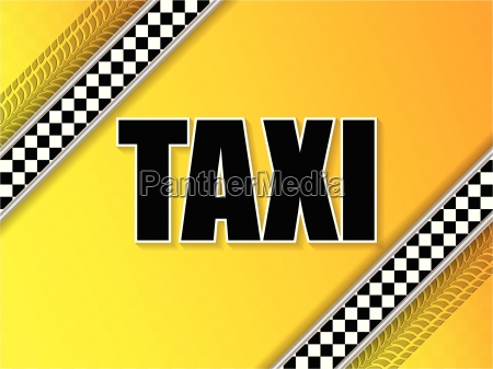 taxi company advertising with tire tread
