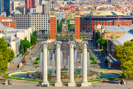 placa espanya in barcelona catalonia spain