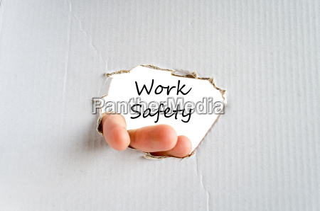 work safety text concept