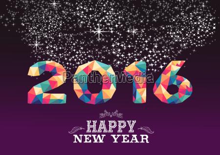 feliz anyo nuevo 2016 color triangulo