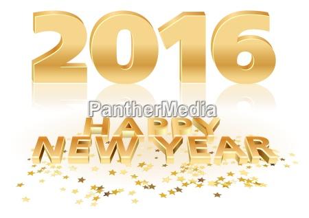 feliz anyo nuevo de oro