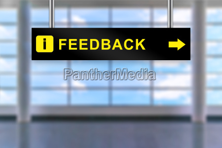 feedback airport sign board