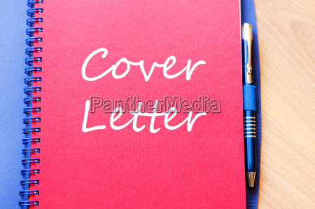 cover letter text concept