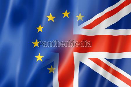 bandera de europa y reino unido