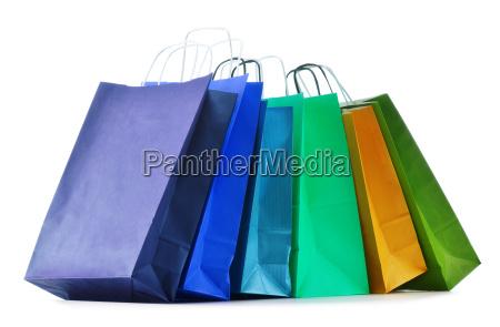 bolsas de papel de compras aisladas