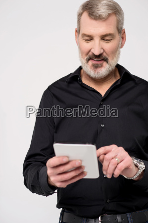 handsome male checking unread mails