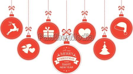 adornos colgantes con simbolos navidenyos