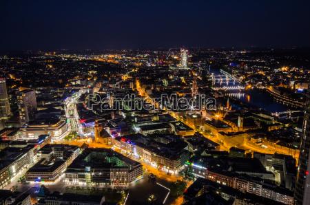 frankfurt am main om natten