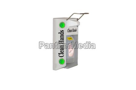 dispensador desinfectante para manos