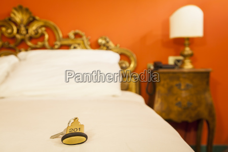 llave de la habitacion del hotel
