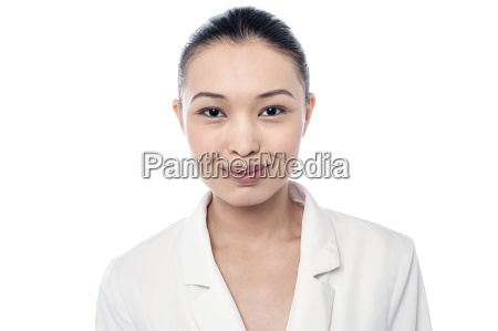 pretty young girl wearing a smile