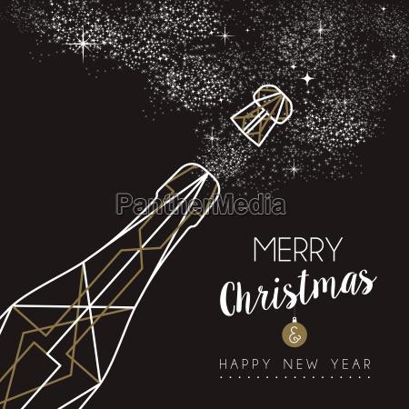 alegre navidad feliz anyo nuevo contorno