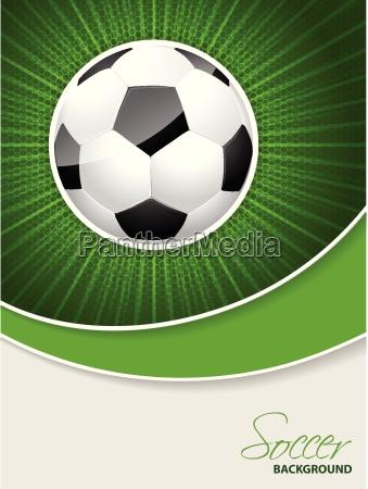 folleto abstracto de futbol con estallar