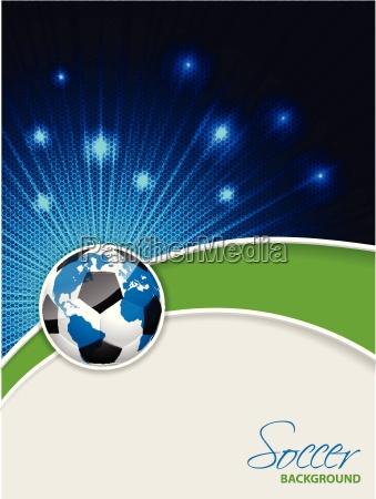 folleto de futbol abstracto con estallido