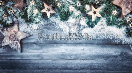 christmas background nature in blue gray