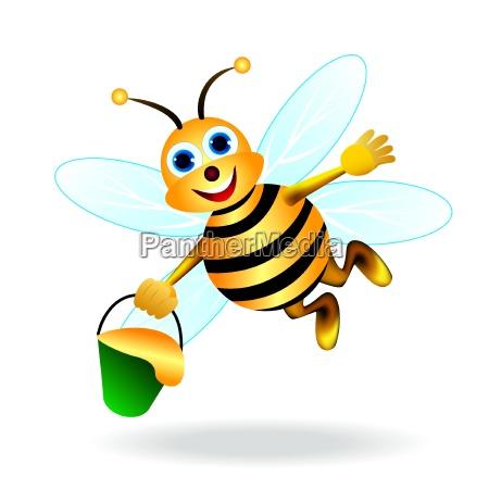 feliz abeja