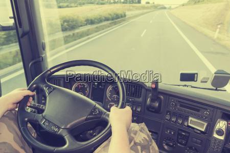 camion efecto instagram conducir