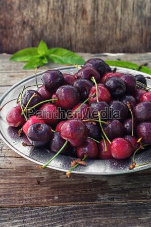 dulce maduro fruta cereza lindo jugoso