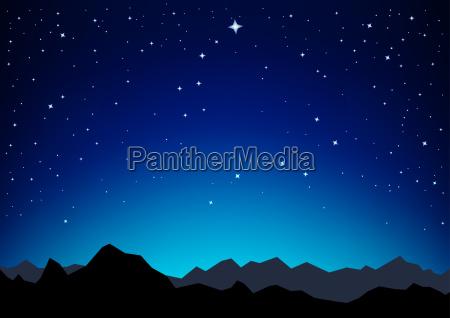 montanyas del cielo estelar