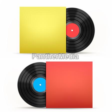 disco de vinilo y cubierta