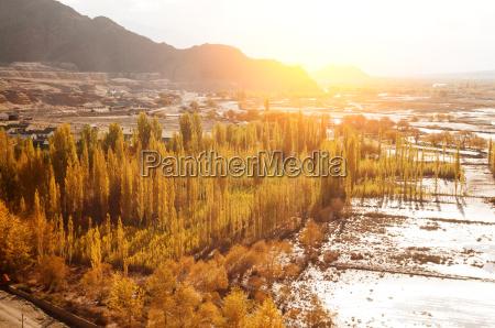 indus river in sunrise