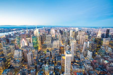 la ciudad de nueva york aerial