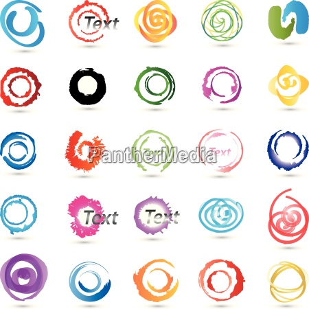 de colores sello circulo pintura circulos