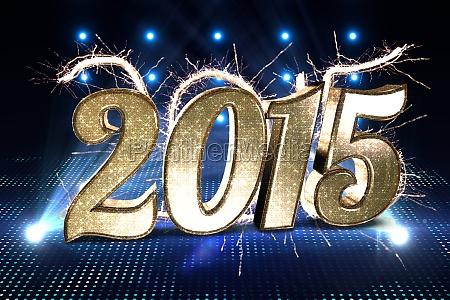 imagen compuesta de brillante 2015