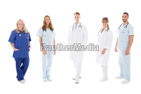 retrato de equipo medico confiado de