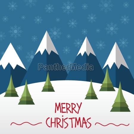 tarjeta de navidad en estilo plano