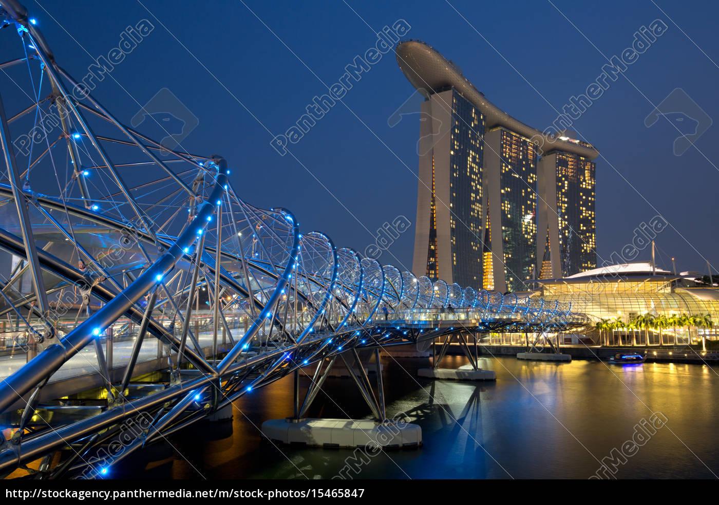 horizonte, de, singapur, singapur, marina, bay - 15465847