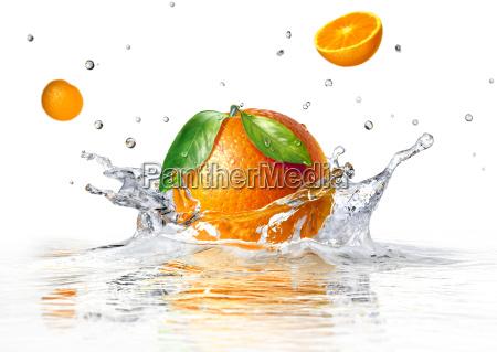salpicaduras de color naranja en el